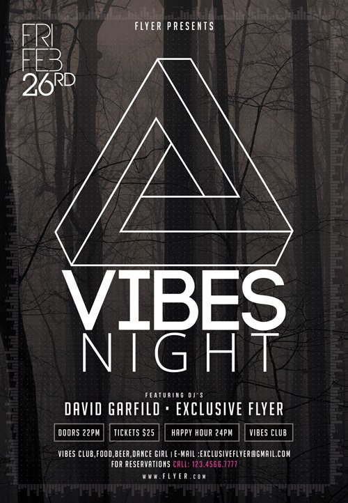 Flyer Template PSD - Vibes Night 2