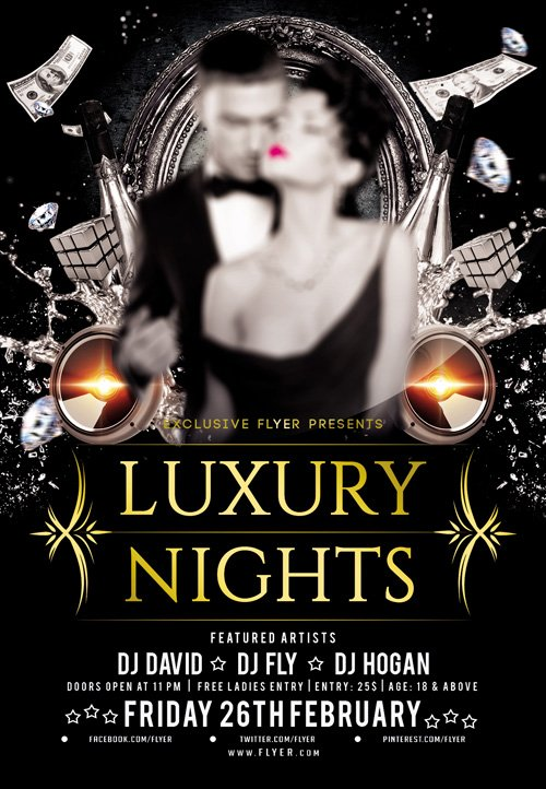 Flyer Template PSD - Vip Luxury Nights