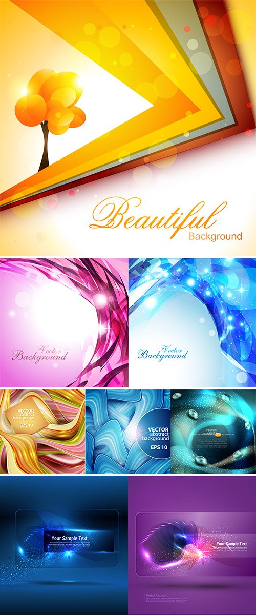 Stock Vectors abstract background with waves
