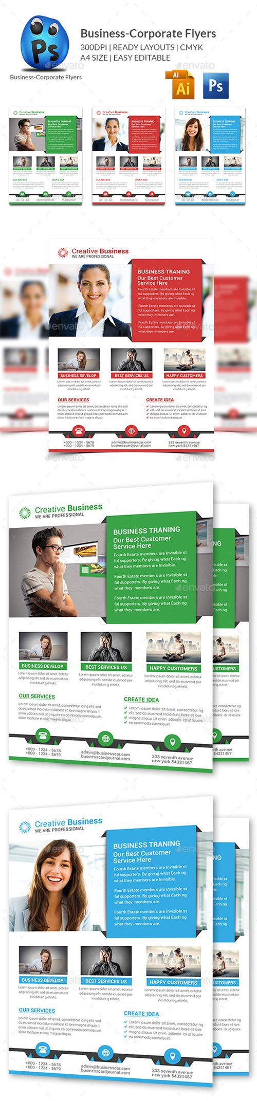 Graphicriver - Corporate Business Flyer Template 10995440