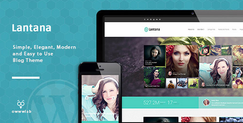 ThemeForest - Lantana v1.0.1 - Responsive Blog WordPress Theme