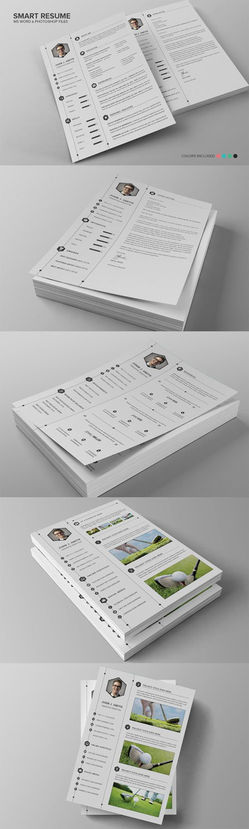 Creativemarket - Smart Resume CV Set 136529