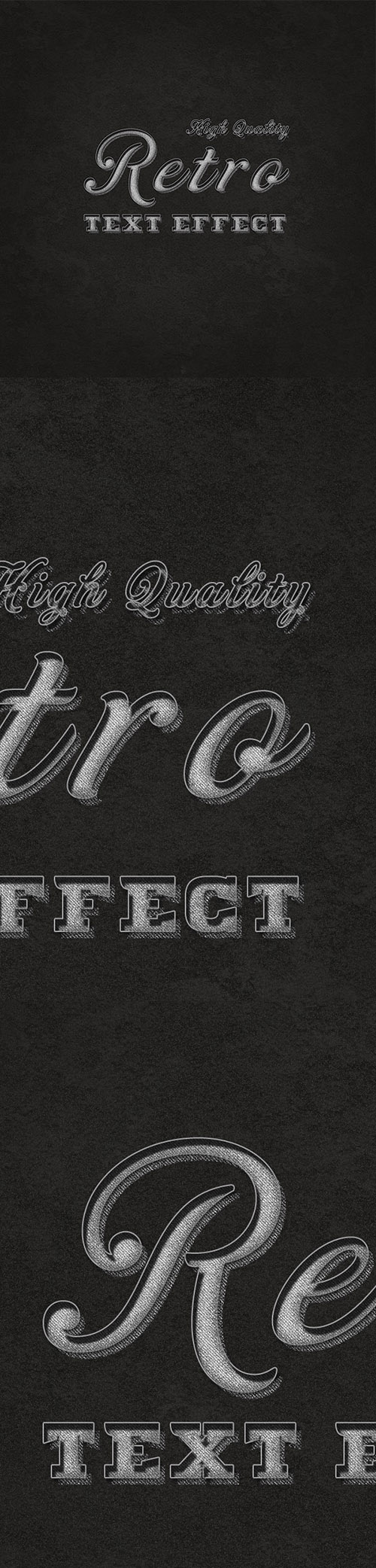 PSD Text Effect - Retro & Vintage v3