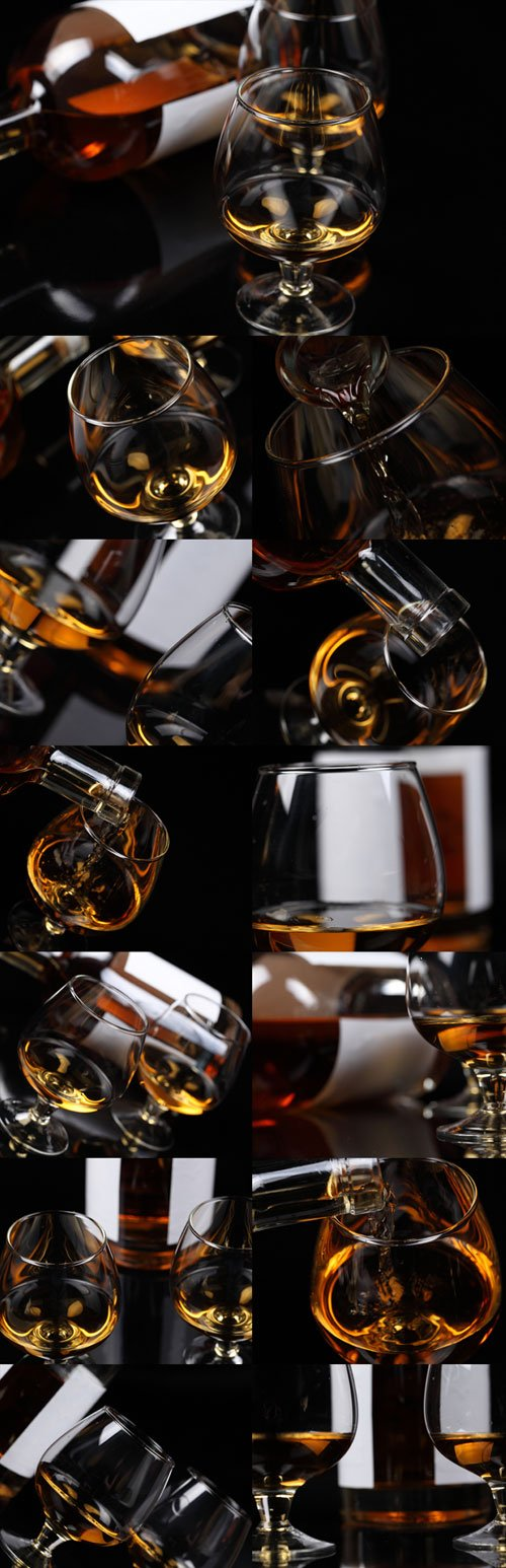 Whiskey, Cognac Raster Graphics