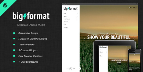 ThemeForest - BigFormat v1.4.1 - Responsive Fullscreen Wordpress Theme