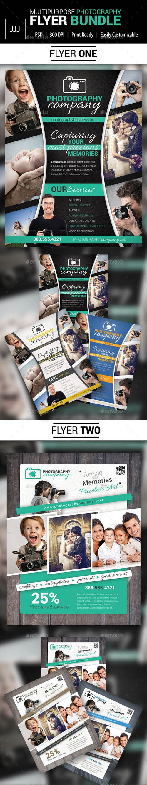 Graphicriver - Photography Business Flyer Bundle 10844183