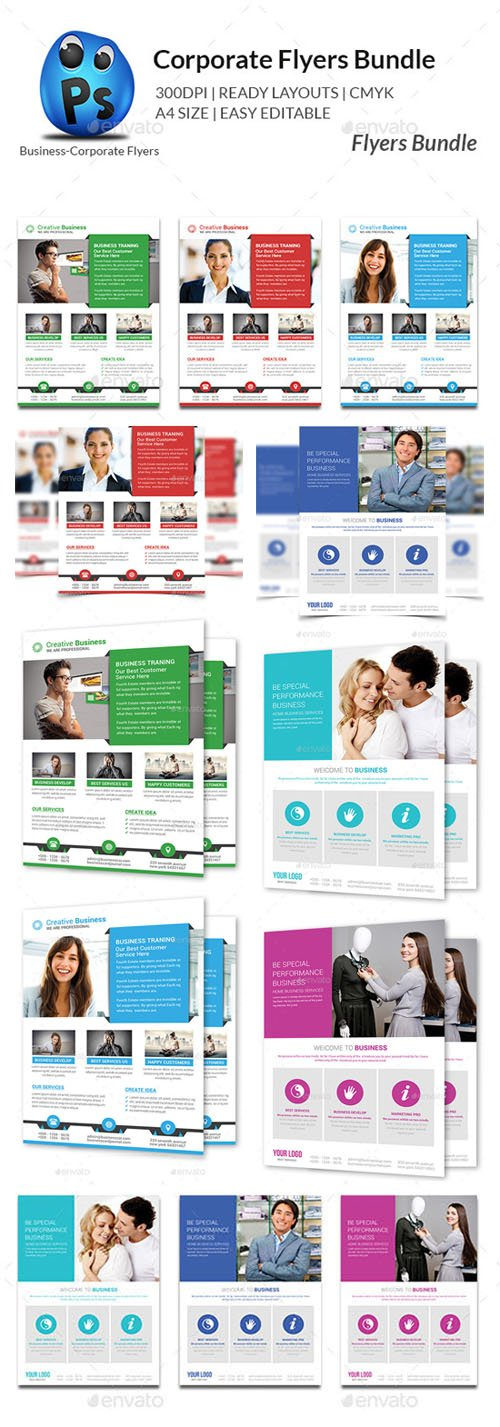 Corporate Business Flyer Bundle - Graphicriver 11050542