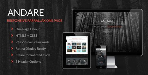 ThemeForest - Andare v1.1 - Parallax One Page Theme