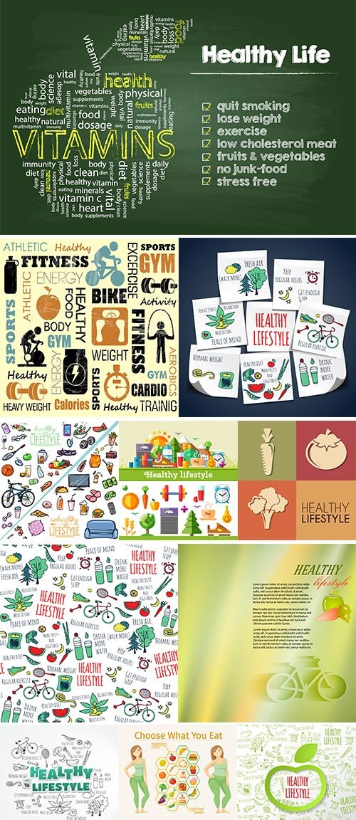 Stock Healthy lifestyle concept vector