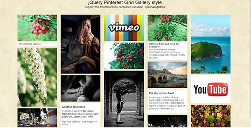 DevelopGo - jQuery Pinterest Grid Gallery