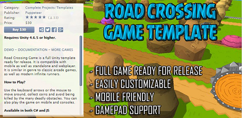 Unity3D - Road Crossing Game Template v1.18