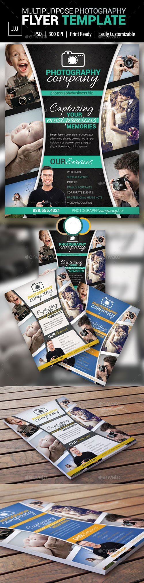 Photography Business Flyer 14 - Graphicriver 10057903