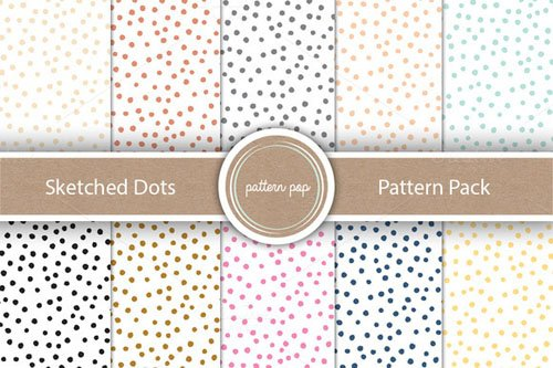 Sketched Dots Pattern Pack - Creativemarket 161284