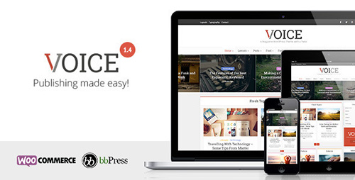 ThemeForest - Voice v1.4 - Clean News/Magazine WordPress Theme