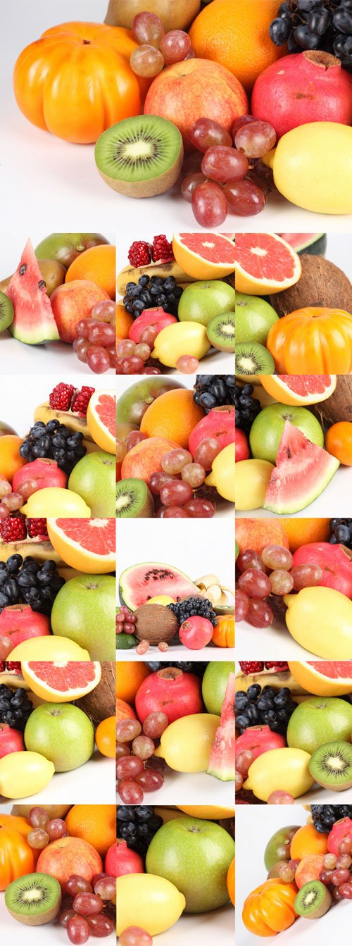 Juicy, ripe fruit Raster Graphics