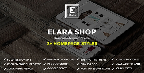 ThemeForest - Elara v1.0 - Responsive Magento Fashion Theme