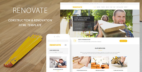 ThemeForest - Renovate v1.1 - Construction Renovation Template - FULL
