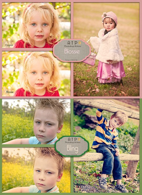 Photoshop Actions - Blossie & Bling