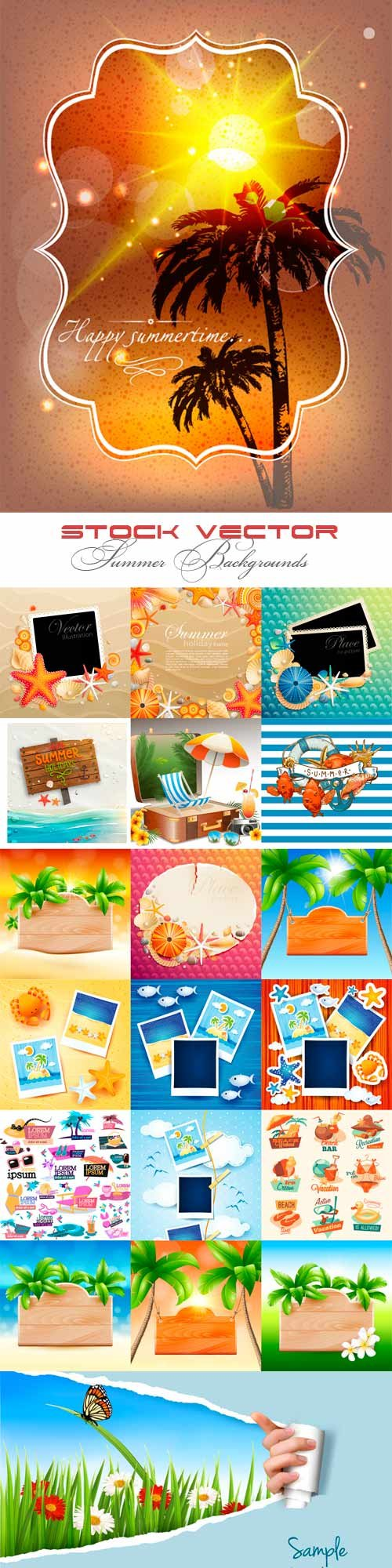 Stock vector summer backgrounds