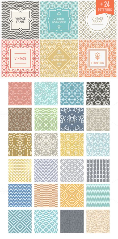 Creativemarket - Linear patterns and frames 251574