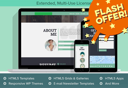 156 Premium WP Themes, Bootstrap Templates, HTML5 Apps & More