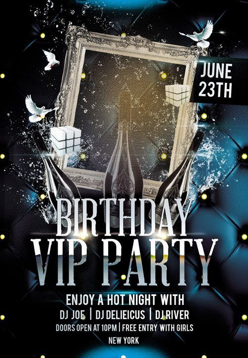 Flyer PSD Template - Birthday Bash + Facebook Cover » NitroGFX - Download Unique Graphics For ...