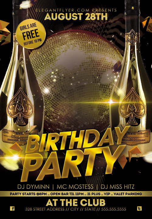 Sensational Flyer Psd Template Birthday Party Facebook Cover Personalised Birthday Cards Veneteletsinfo