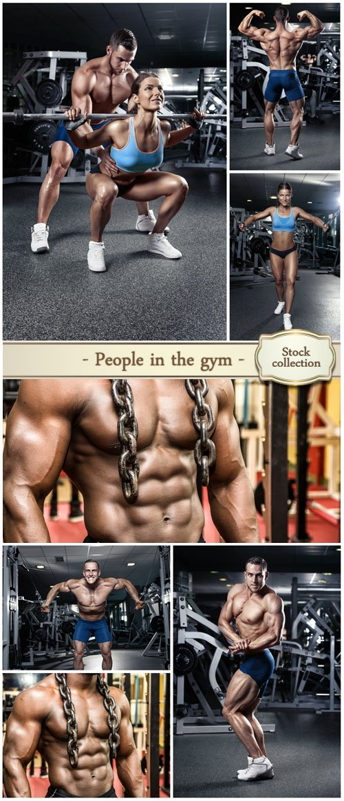 People in the gym, athletes - stock photos