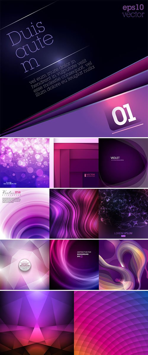 Abstract violet background vectors