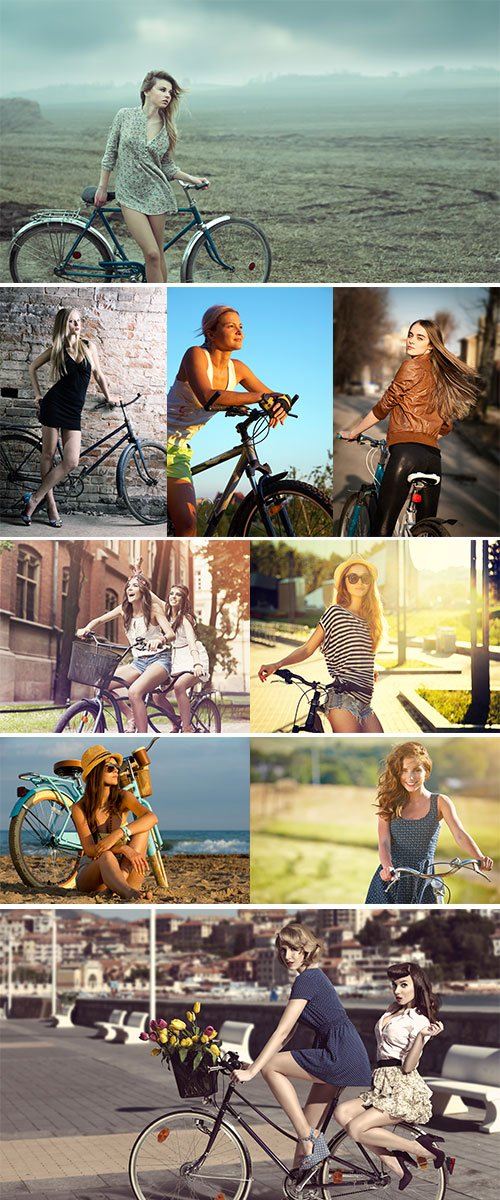 Stock Photos - Girl on bicycle