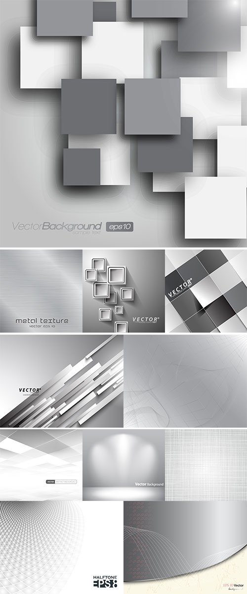 Abstract grey background vectors