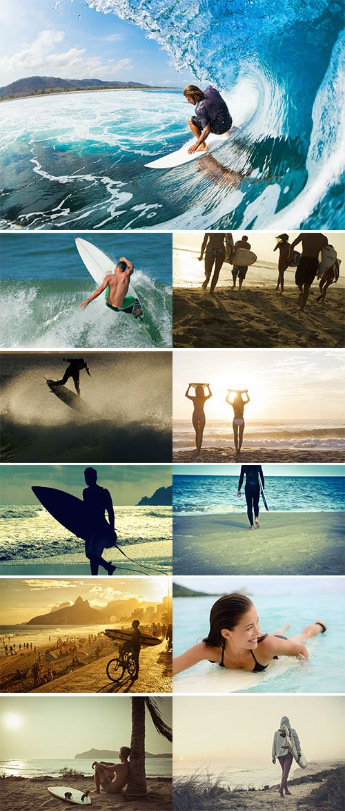 Stock Images - Surfer on the beach