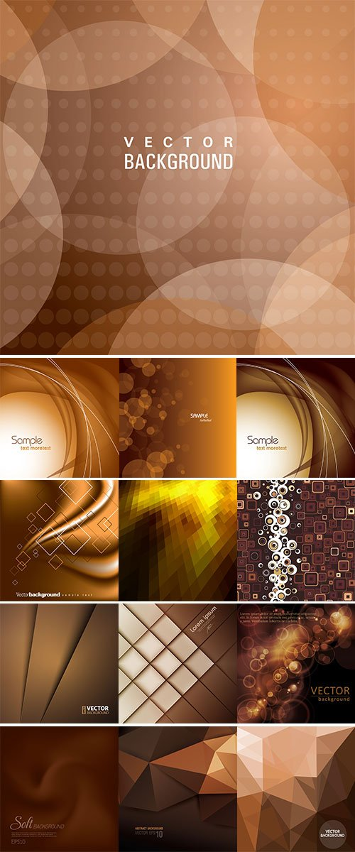 Abstract brown background vectors