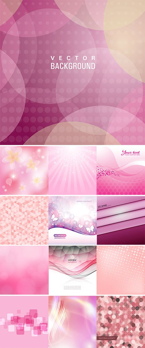 Abstract pink background vectors