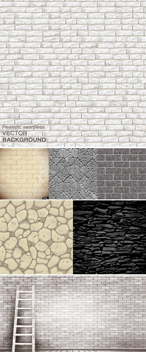 Stone wall, Vector background illustration