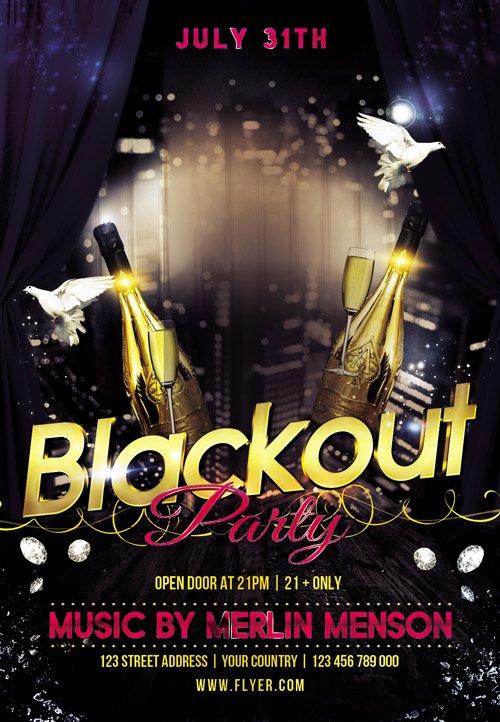 Flyer Psd Template Blackout Party Facebook Cover Gfx