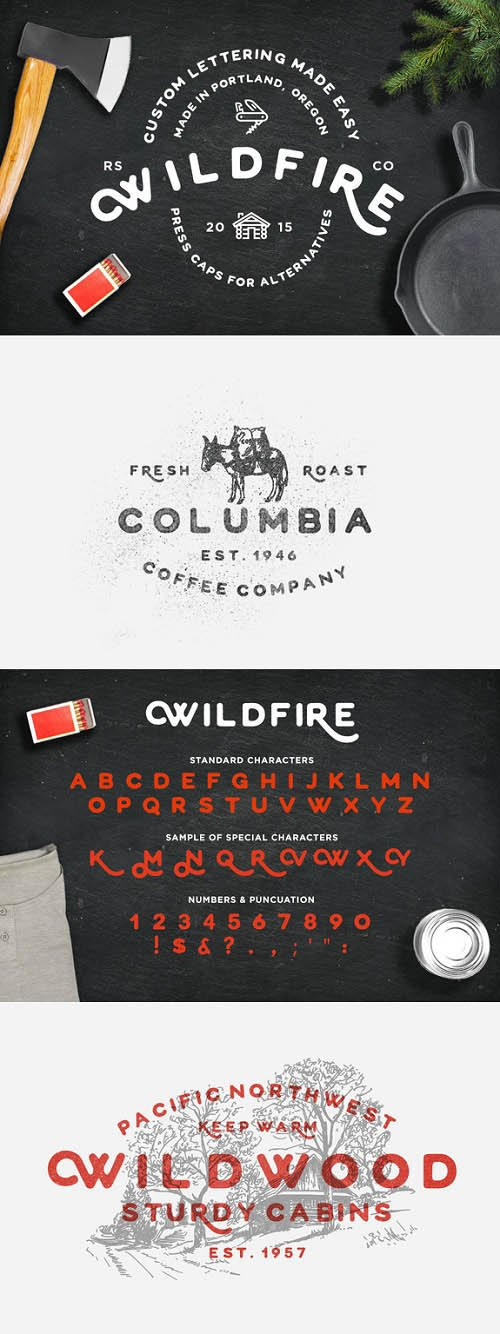 Wild Fire Font Style
