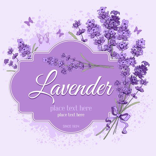 floral vintage background with lavender vector 187 nitrogfx