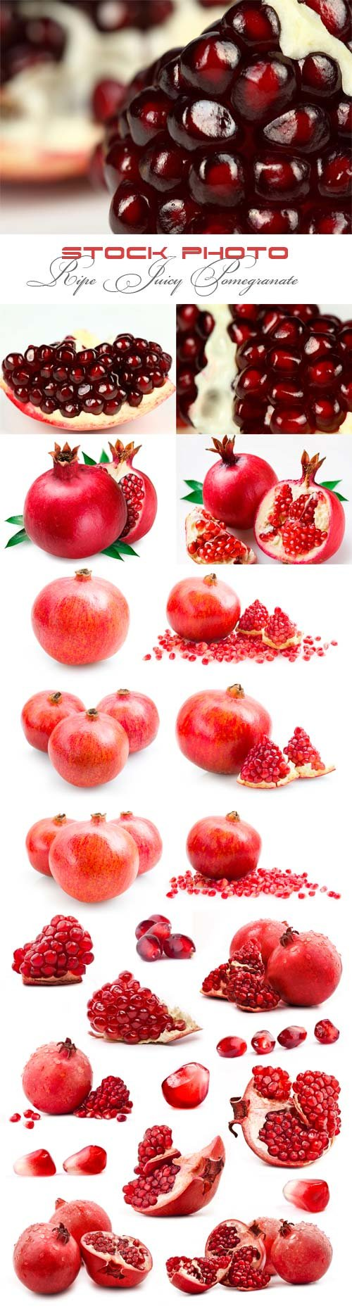 Ripe juicy pomegranate raster graphics