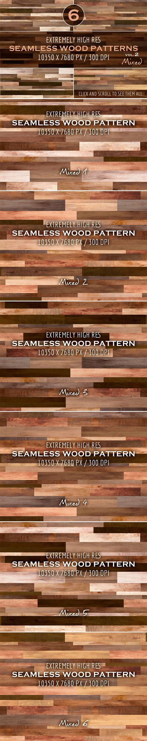 Creativemarket - Extremely HR seamless wood patterns 288147