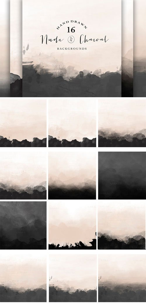 Creativemarket - Nude and Charcoal backgrounds 87359