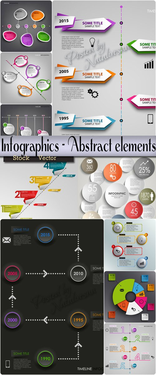 Infographics collection in Vector - Abstract elements