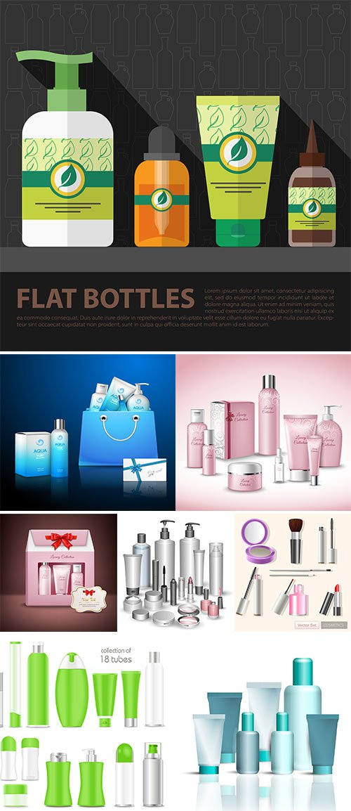 Stock Hygiene skin care concept vectors