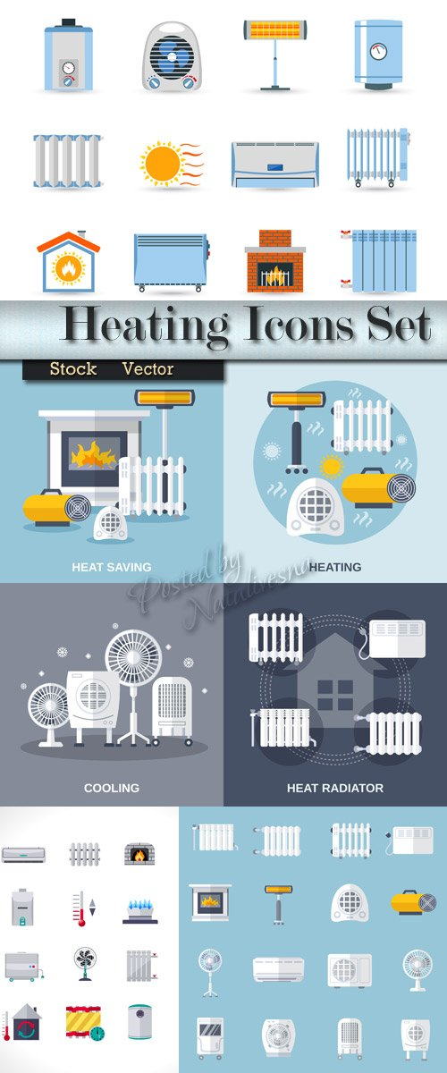 Collection Icons - Heating and cooling
