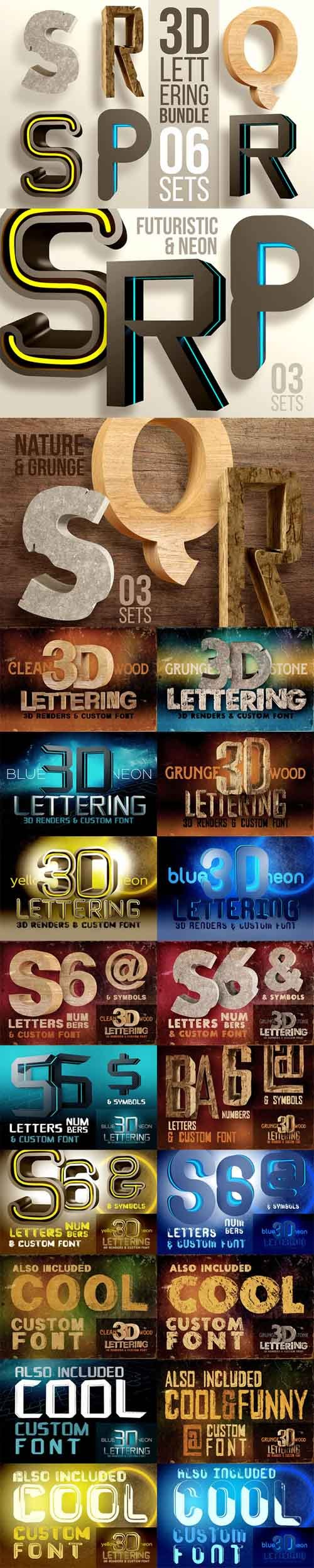 3D Lettering Mega Bundle