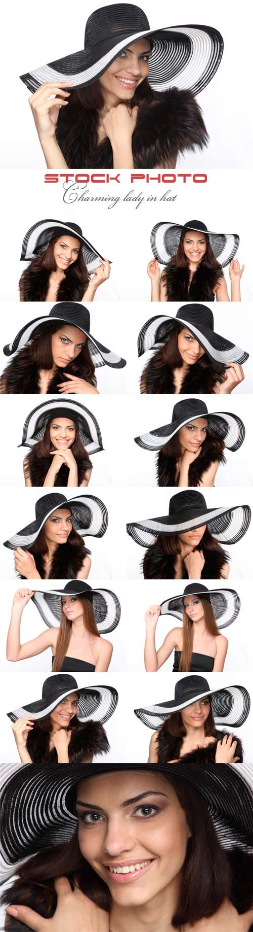 Charming lady in hat