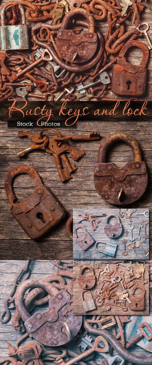 Rusty keys and lock