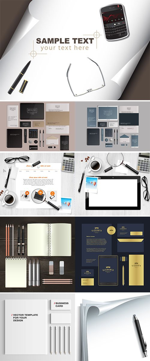 Stock Stationery set vectors