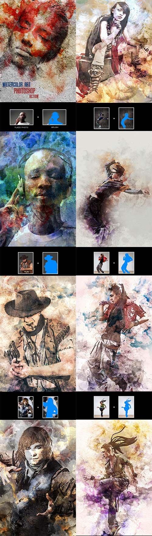 GraphicRiver - Watercolor Art - Photoshop Action 12259424
