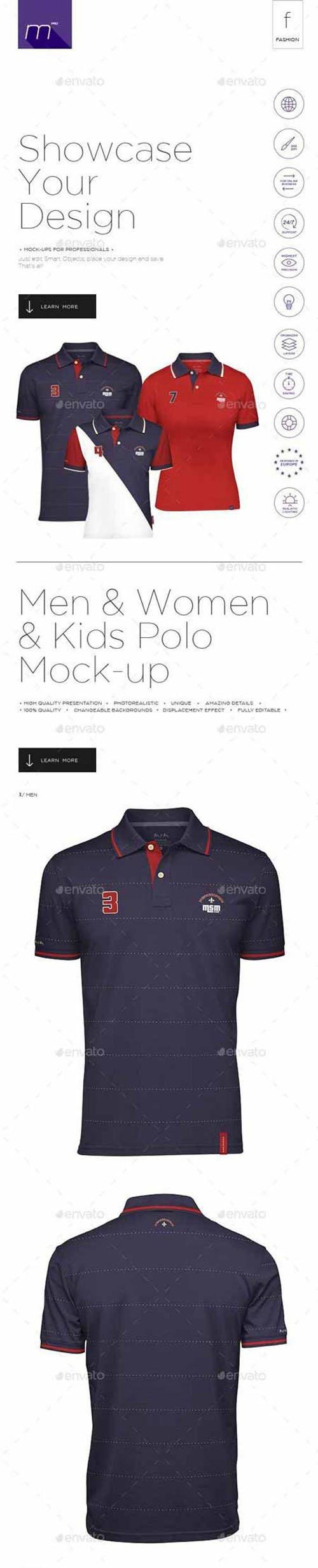 GR - Polo Shirt for Men & Women & Kids Mock-up